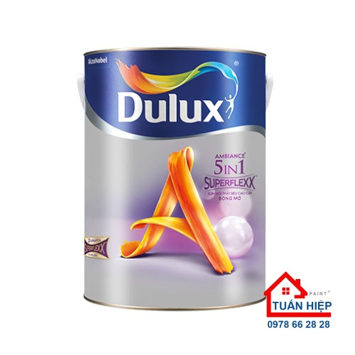 Sơn nước nội thất siêu cao cấp Dulux Ambiance 5 In 1 Superflexx bóng mờ - Z611