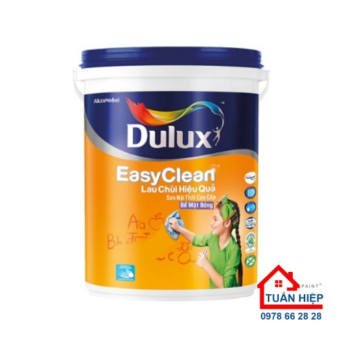 Sơn nước nội thất cao cấp Dulux Easyclean lau chùi hiệu quả bề mặt bóng - A991B