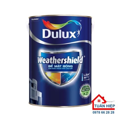 Sơn nước ngoại thất cao cấp Dulux Weathershield bề mặt bóng BJ9