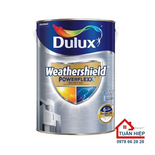 Sơn nước ngoại thất siêu cao cấp Dulux Weathershield Powerflexx bề mặt mờ GJ8
